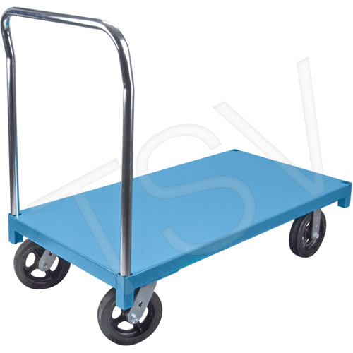 Chariot plateforme en acier 30 x 48 1400 roues caoutchouc areic inc - Roue caoutchouc chariot ...